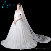 Elegant Bridal Tulle Long Lace Wedding Cathedral Veil