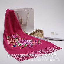 cashmere scarf high quality embroid flower cashmere scarf