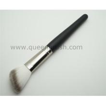 Wood Handle Angled Pó Sintético Maquiagem Escova Cosmética