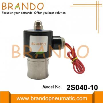 2S040-10 G3 / 8 '' Válvula solenóide de aço inoxidável de ação direta
