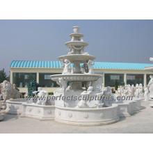 Piedra de mármol talla fuente para jardín tallado fuente (SY-F220)