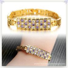 Accessoires de mode Bracelet en cuivre Bijoux en cristal (AB262)
