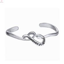 2018 bricolage contracté évider les bijoux de bracelet de l'alphabet anglais pour les hommes