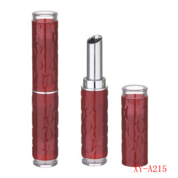 Stone Cylinder Red Lipstick Container Empty