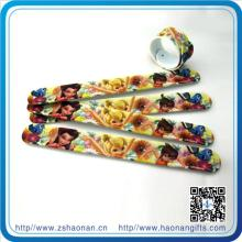 Personalized Engrave PVC Slap Wristbands for Promotional