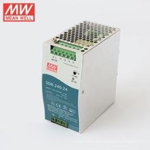 Fuente de alimentación MEANWELL 240W 24V 10A Din Rail SDR-240-24 con función PFC