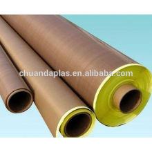 China proveedor mejores ventas de alta temperatura buen aislamiento de vidrio de teflón con adhesivo