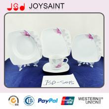 Hochwertige, einfache Abziehbild-Porzellan-Tafelgeschirr-Platten-Kaffeetasse