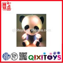 2016 new design mini colourful music LED Teddy bear plush toy