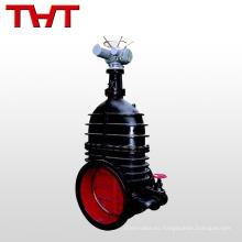 pn25 brida de hierro fundido tipo bypass gran volumen válvula de compuerta de 24 pulgadas