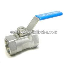 """1"""", DN25 1PC Stailess Steel 316 extrémités robinet à tournant sphérique"""
