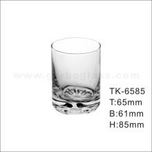 Tumbler en verre droit avec fond de fleur (TK-6585)
