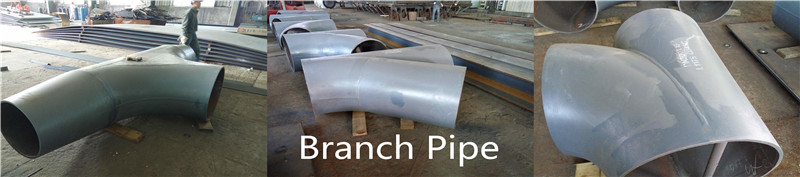 Steel branch pipes fitting