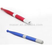 Stylo de microblade en aluminium bleu / rouge ou OEM, stylo de tatouage à sourcils chauds pour sourcil de sourcil 3D