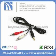 Prise auxiliaire 3,5 mm au câble vidéo 2rca