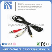 3.5mm aux plug to 2rca video cable
