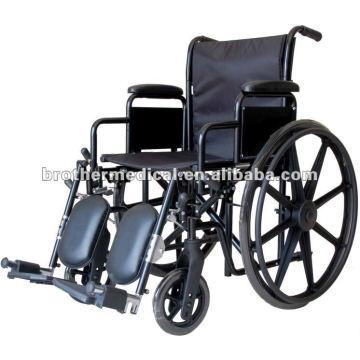 Schwarzes Puder beschichtet mit Mag Wheel Manual Rollstuhl