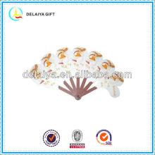 Attractive plastic folding hand fan