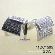 CZ prata anéis joias (11DC1505)