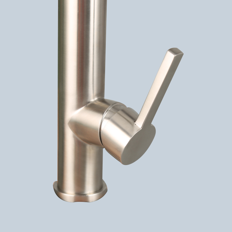 Stainless Black Steel Hose Type Kitchen Faucet 3