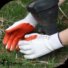 SRSAFETY 10g промышленные перчатки в фарфоровой красной латексной перчатке / защитные перчатки