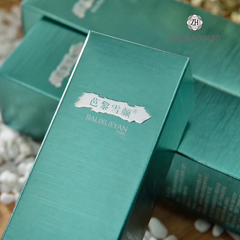 Sliver foil stamping luxury essential oil box