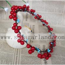 New Fashion Red Berry Garland Christmas Party Headdress Headband Garland