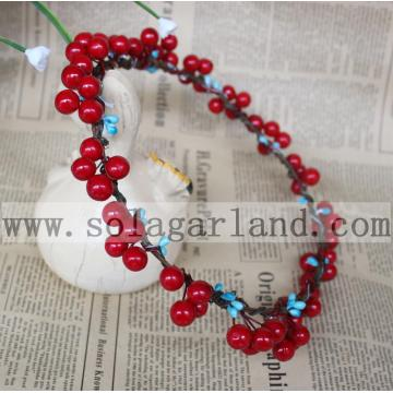 Nieuwe Fashion Red Berry Garland Christmas Party hoofdtooi hoofdband Garland