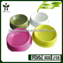 Eco-friendly fábrica de fibra cão tigela conjuntos / tigela pet conjuntos
