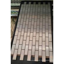 Мозаичная настенная плитка, металлическая мозаика из нержавеющей стали (SM264)