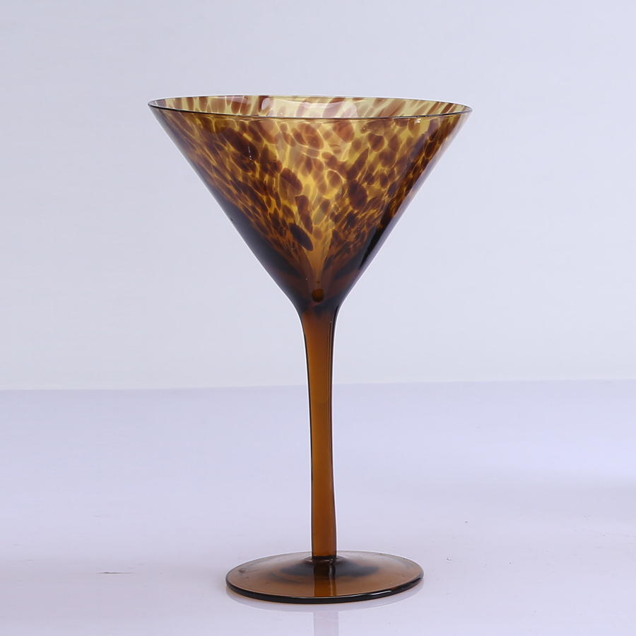 Leopard Pattern Goblet Wine Glass Cup