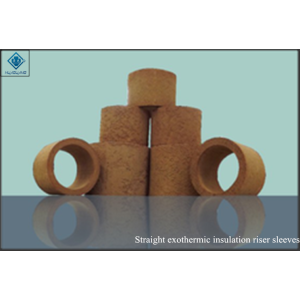 Exothermic riser sleeves straight insulation