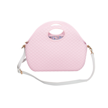 sacos cor-de-rosa da praia do ombro do crossbody do diamante de EVA