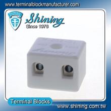 TC-202-A Termopar 600V 20A 2 Pin Conector de cable de porcelana