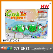 Gafas de deporte de natación de verano verde divertido niño plástico