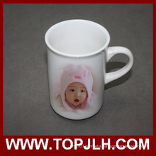 Smooth Glossy Surface Aboraal White Ceramic Mug