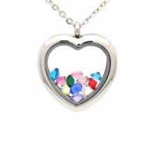 Beautiful silver heart shape photo frame locket pendant jewelry