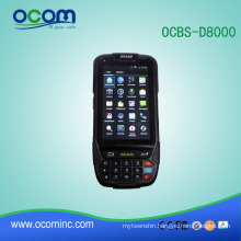 OCBS-D8000: touch screen handheld courier pda barcode scanner Android