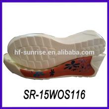 Últimas nuevas suelas de la PU para hacer las sandalias zapato de las suelas de encargo suelas del zapato de encargo