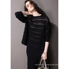 Fashion Clothing Hollow Nylon Knit Women Sweater