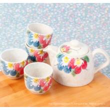 Design populaire dans le set de pot de théière en céramique