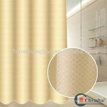 Poliéster jacquard chuveiro cortina forro mofo resistente