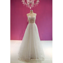 Sweetheart Beading A Line Beach Wedding Dress