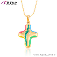32385 Xuping new arrival wholesale 18k gold plated cross pendant colorful geometric jewelry
