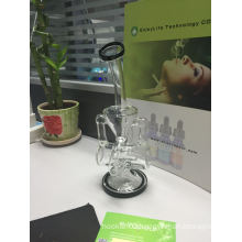 Double Recycler Glass Waterpipe
