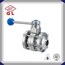 Sanitary Stainless Steel Three-Piece Butterfly Valve