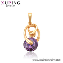 33316 Xuping nuevo modelo de calidad superior 18k oro lleno de joyas elegante colgante de piedras preciosas de color púrpura rojizo