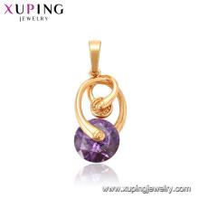 33316 Xuping top qualité nouveau modèle or 18 carats rempli bijoux élégant pendentif rouge pourpre gemme