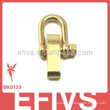 2013 moda nova luz dourada aço inoxidável ajustável manilha para paracord pulseira