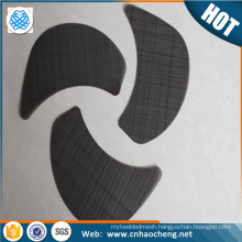Wholesale 10 mesh black wire mesh cloth screen filter disc for pp pe plastic recycle